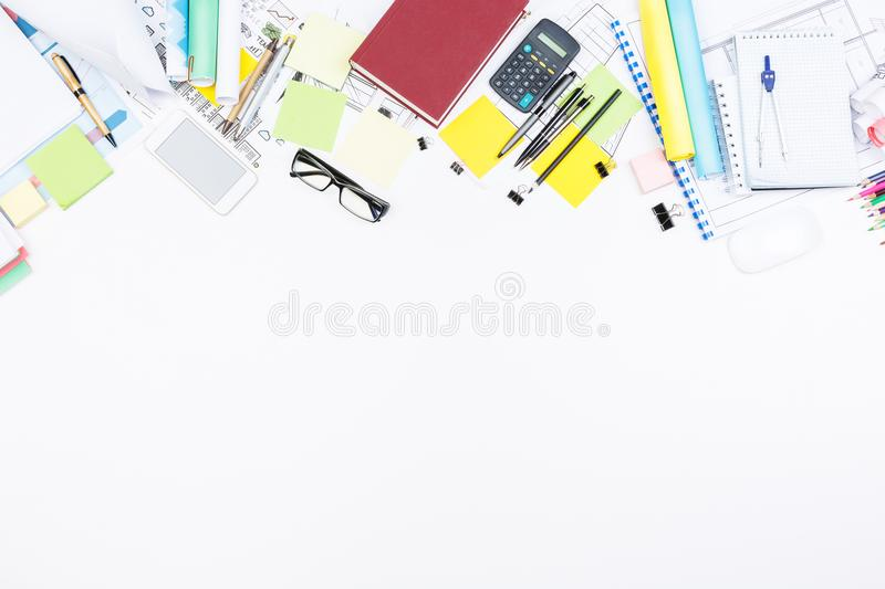 Blueprint and stationery tools concept stock photo image of download blueprint and stationery tools concept stock photo image of cellphone paper 110123002 malvernweather Image collections