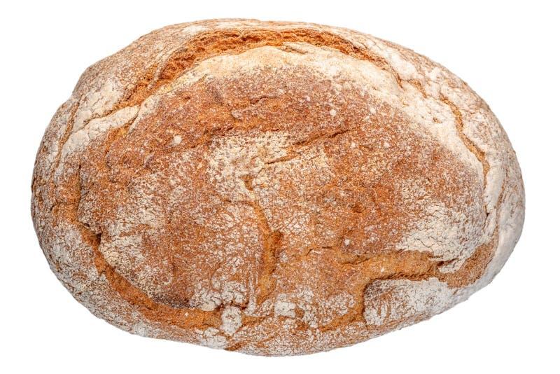 whole Greek round bread isolated on white background stock image