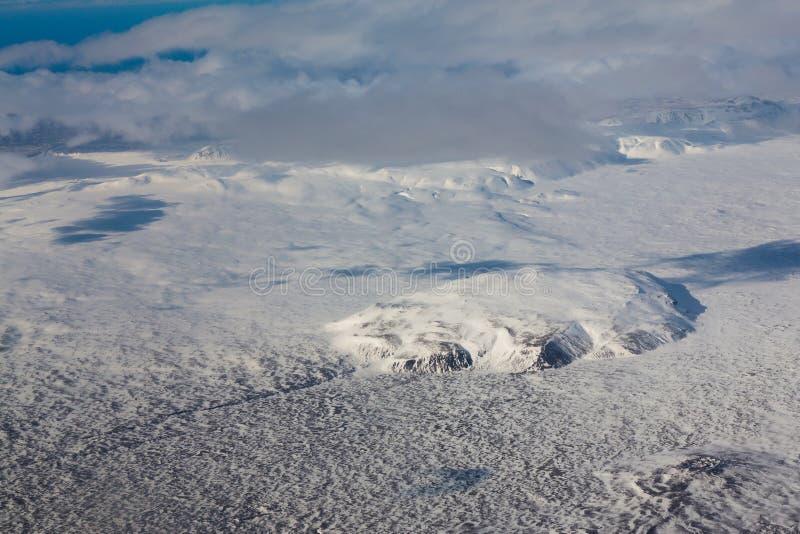 Top view Winter season natural landscape. Iceland stock photos