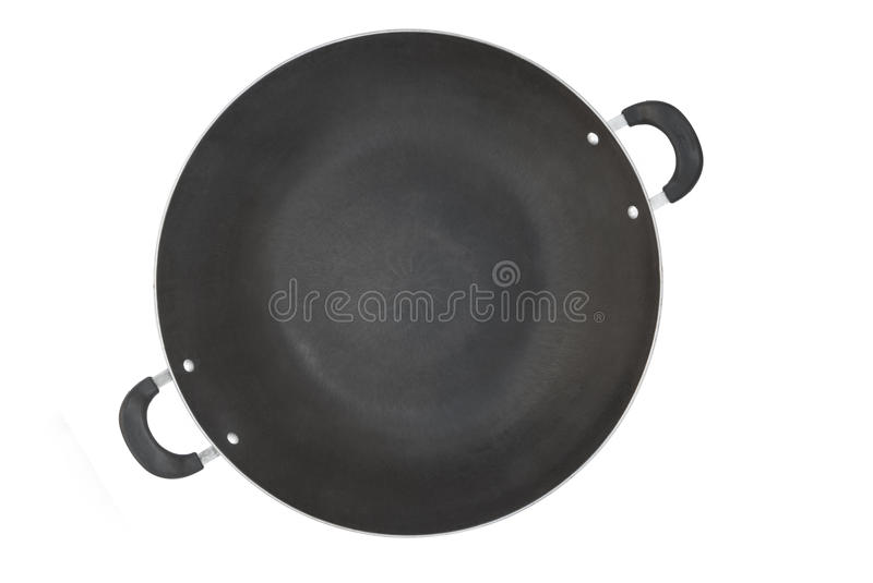 Top view wok. With clipping path stock images