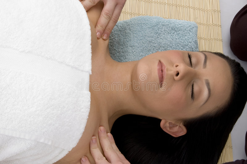 Download Top View Of Woman Ready To Take Massage Stock Photo - Image: 7365734