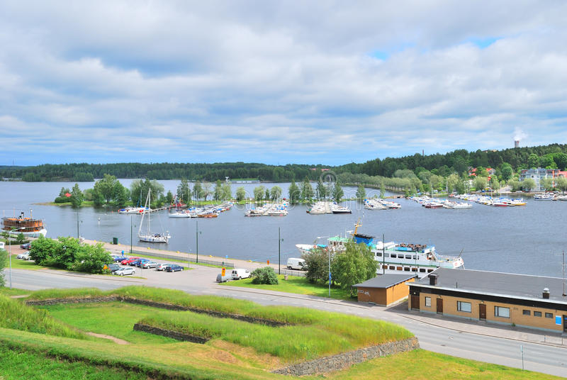Top-viewof  Lappeenranta harbor. Finland
