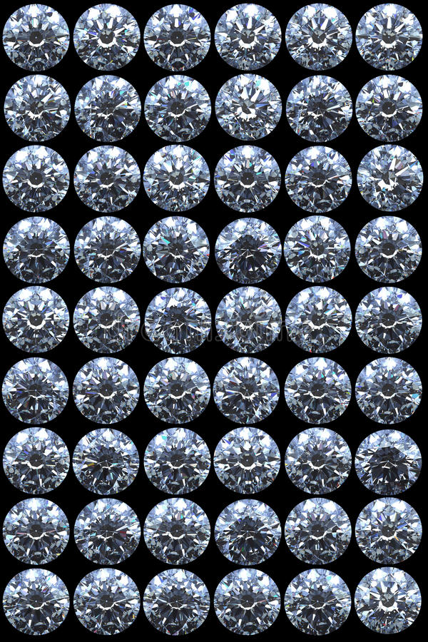 Download Top Views Of Diamonds On Black Stock Illustration - Image: 15865849