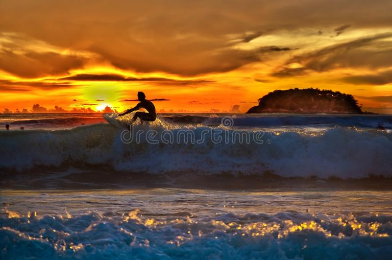 Top of the wave royalty free stock photography
