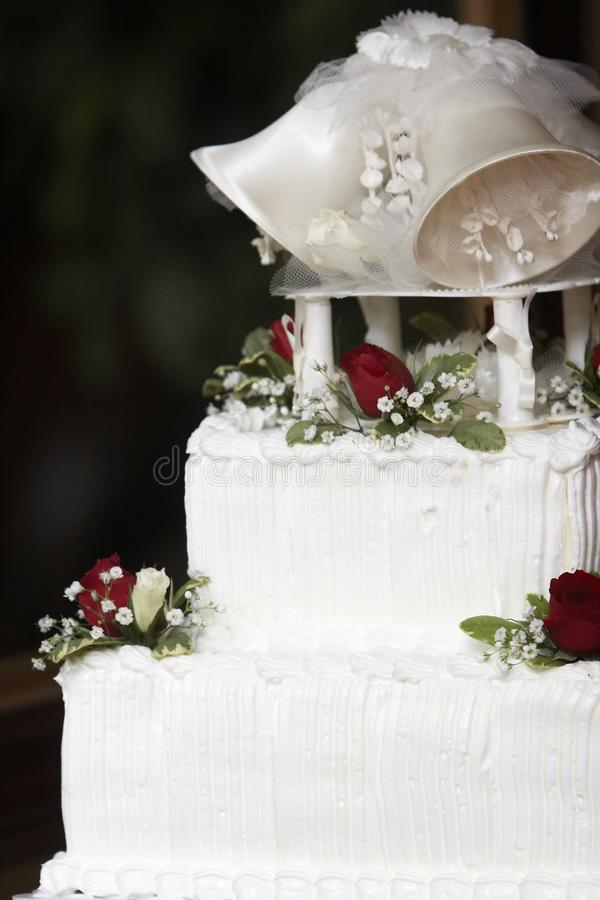Top of a wedding cake royalty free stock photo