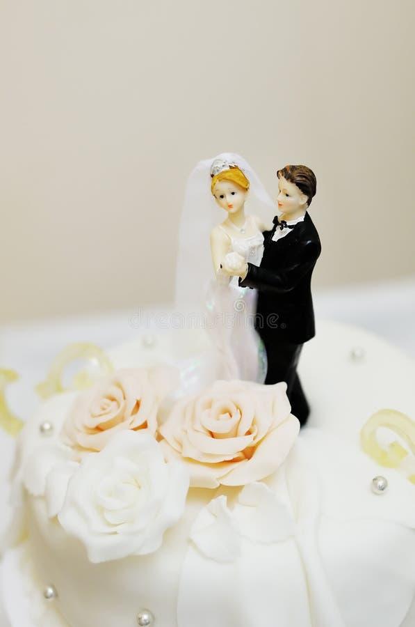 Top of wedding cake stock photo