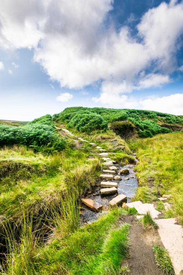Haworth Moor. The iconic Haworth moor. Yorkshire, the Spiritual home of the Bronte sisters stock photo