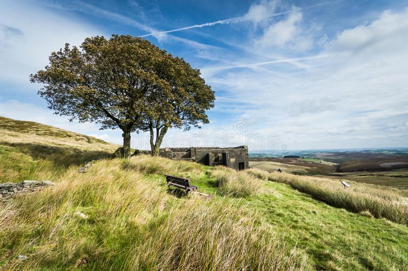 Top Withens, Haworth Moor. Yorkshire royalty free stock images