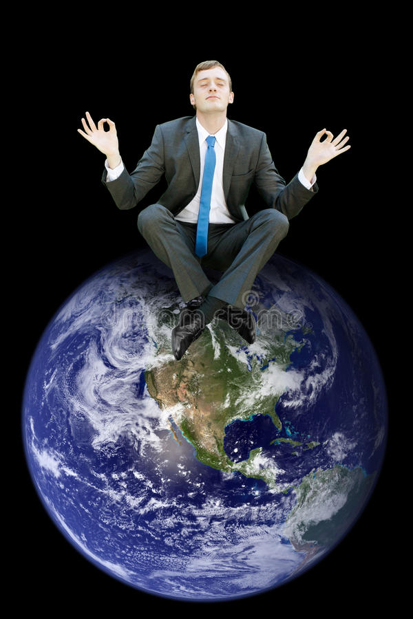Top of the world royalty free stock photo