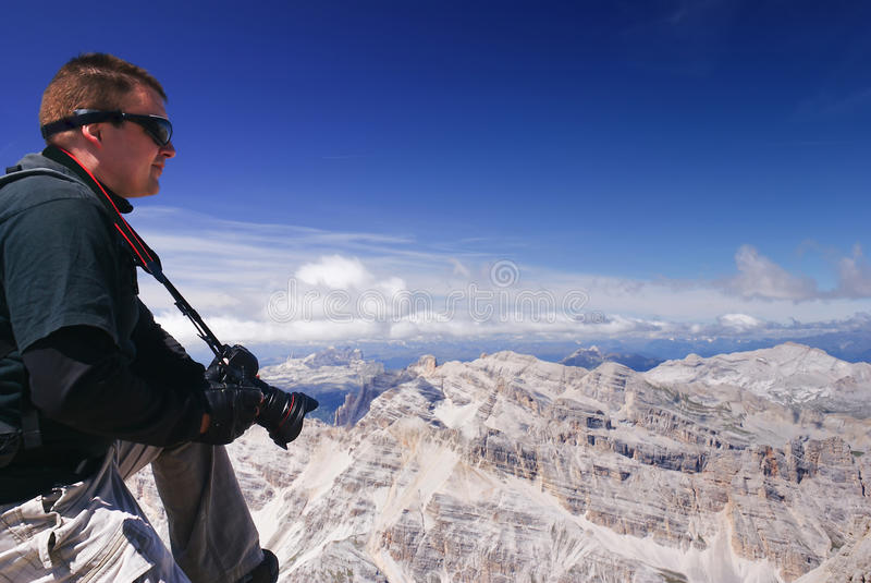 On the top of world. royalty free stock photos