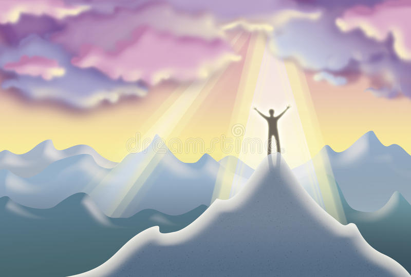 Download On Top Of The World stock illustration. Image of bright - 25988613