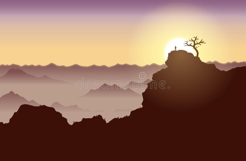 Download On Top of the World stock vector. Image of silhouette - 26679898