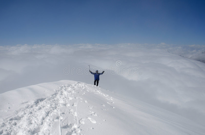 At the top of world. stock photography