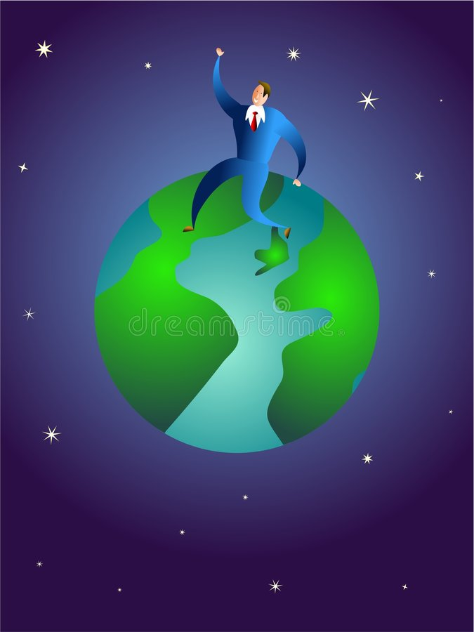 On top of the world royalty free illustration