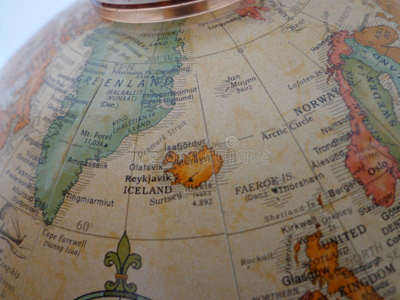 Top of the world stock image image of norway europe 40624521 globe showing the islands of greenland and iceland in the atlantic ocean gumiabroncs