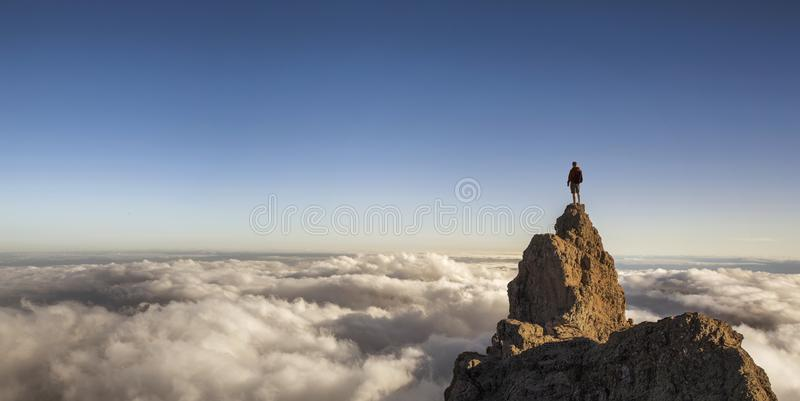 On the top of the world royalty free stock photos