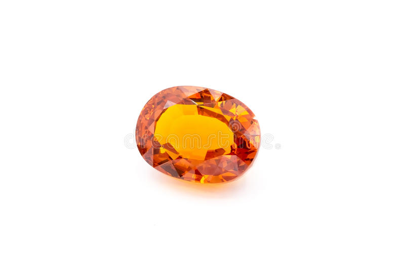 Topas on white background, Yellow topas, Yellow gems, Gem, yello royalty free stock images