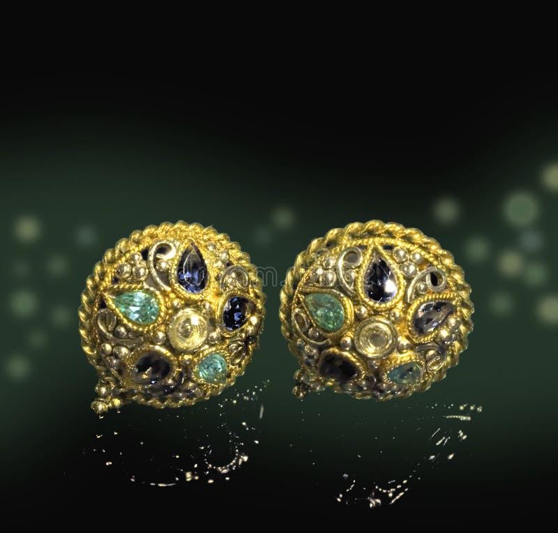 Topaz earrings royalty free stock photo