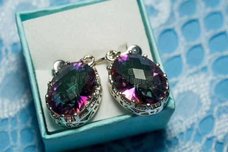Topaz Earrings mystique image libre de droits