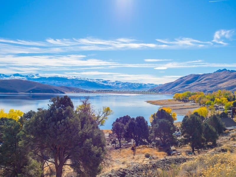 Topaz Lake, Nevada stock afbeelding
