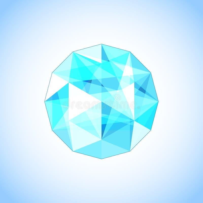 Topazio realistico a forma di gemma Illustrazione di vettore illustrazione vettoriale