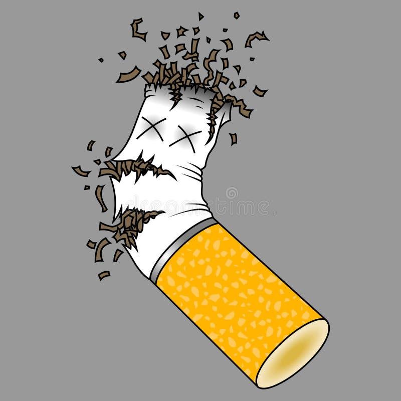 Tope de cigarrillo machacado ilustración del vector