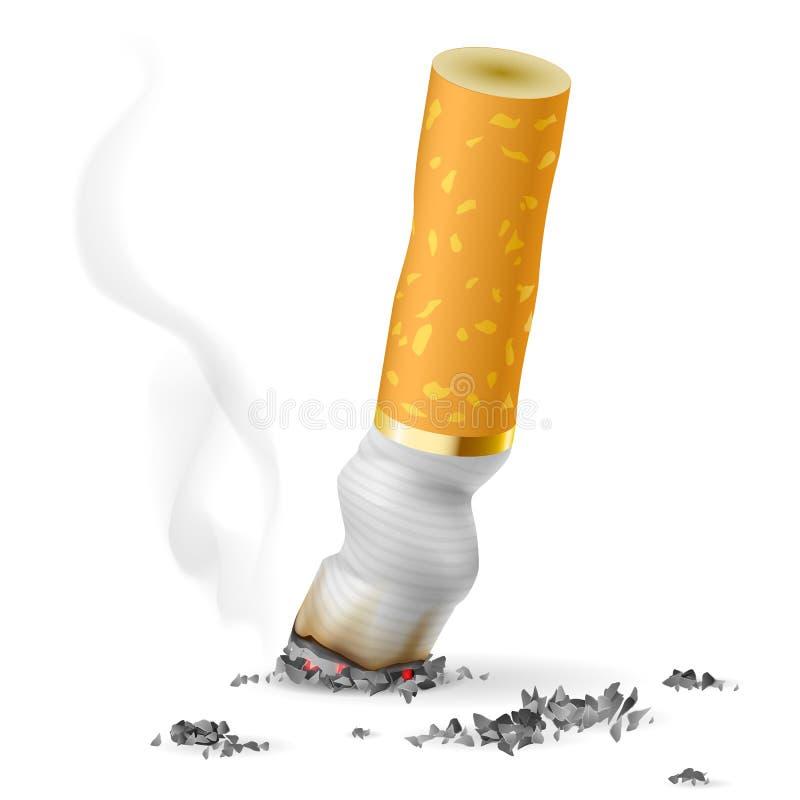 Tope de cigarrillo realista ilustración del vector