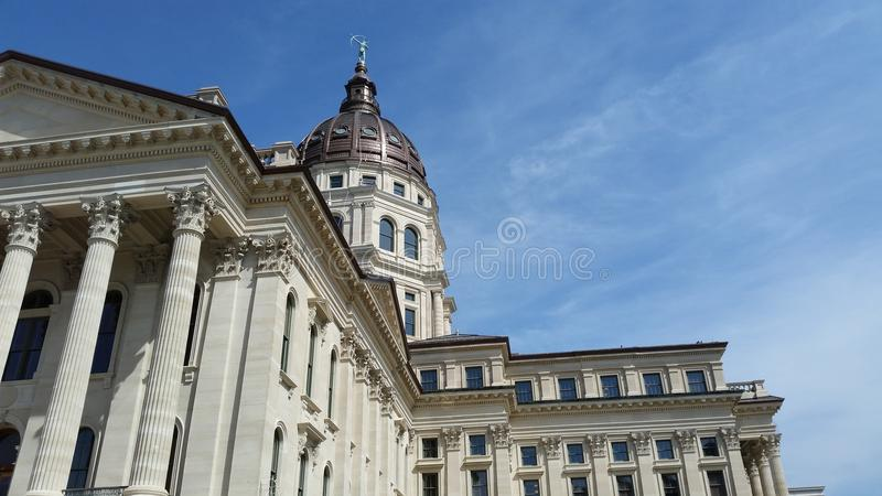 Topeka Capitol Building. A shot of the Topeka Capitol Building from the southwest. Shot in April of 2015