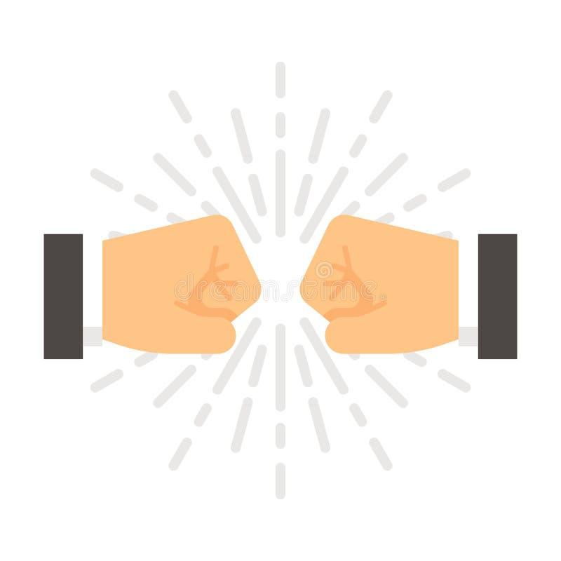 Topetón plano del puño del diseño libre illustration