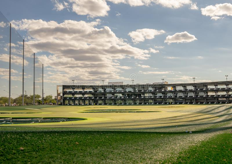 Topgolf, Gilbert, Az. Gilbert,Az/USA -10.17.18 Topgolf, Gilbert, Az. a global sports entertainment community headquartered in Dallas, Tx with locations royalty free stock photo
