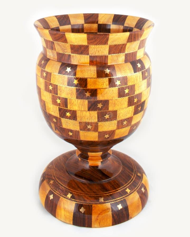 Tophy antico di legno Handcrafted immagine stock libera da diritti