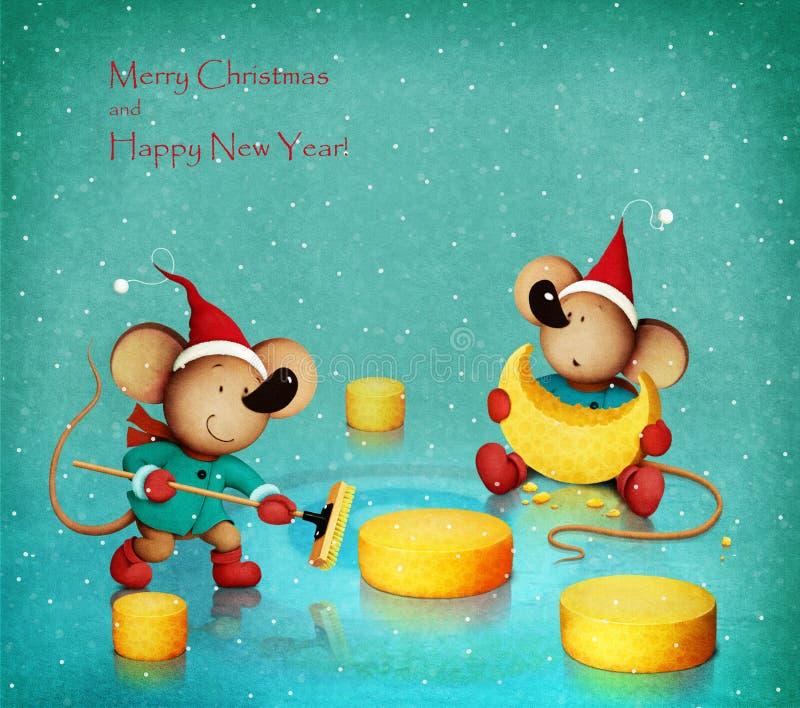Topi e formaggio royalty illustrazione gratis