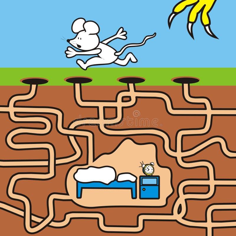 Topi - labirinto illustrazione di stock