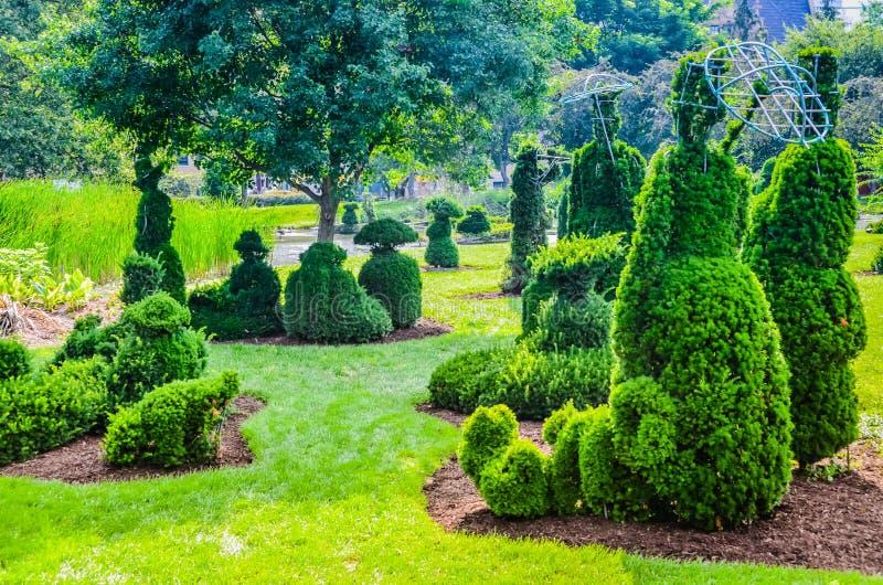Topiaray庭院-哥伦布,俄亥俄 库存照片