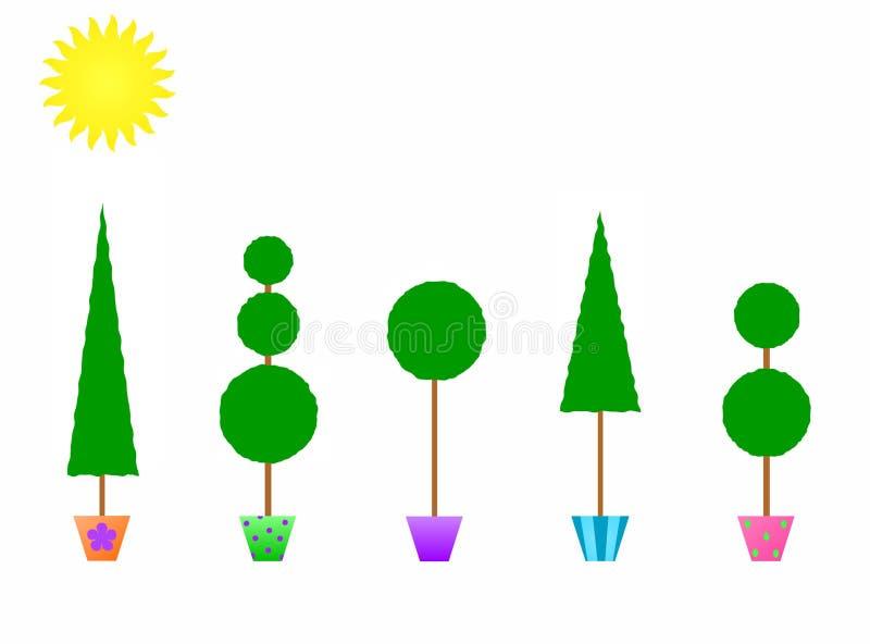 Topiaries in gekopierten Potenziometern vektor abbildung