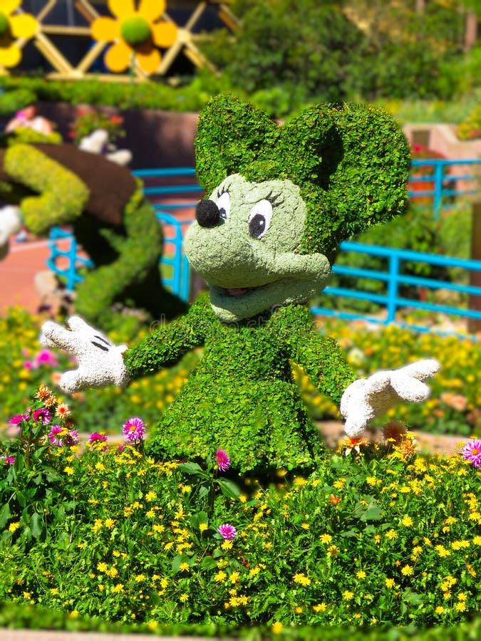 Topiary de Minnie Mouse - flor internacional de Epcot e festival 2017 do jardim imagens de stock royalty free