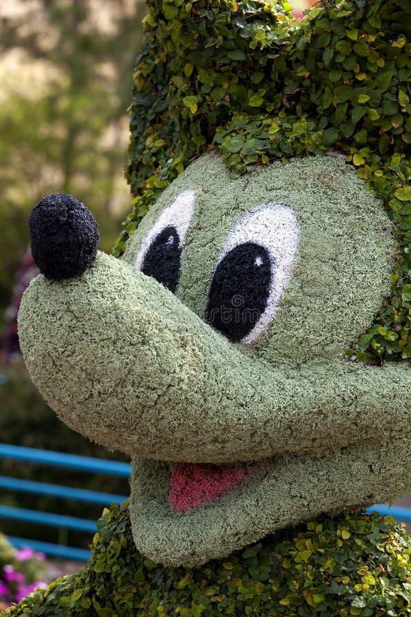 Topiary de Mickey Mouse foto de stock royalty free