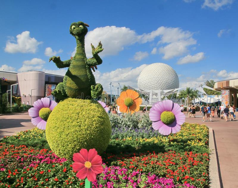Figment in front of the golf ball stock image