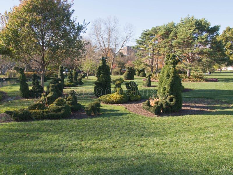 Topiary Scene royalty free stock photos