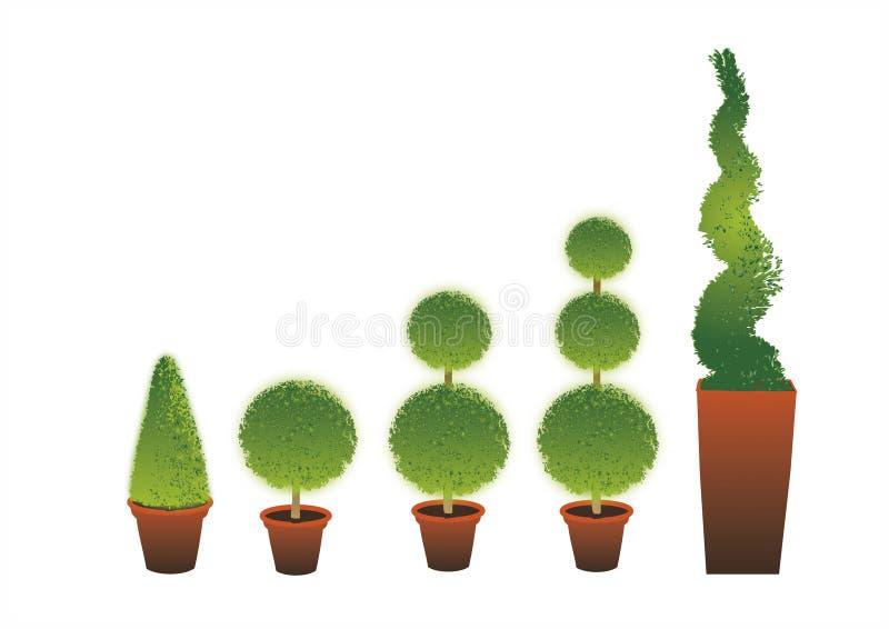 Topiary-Sträuche stock abbildung