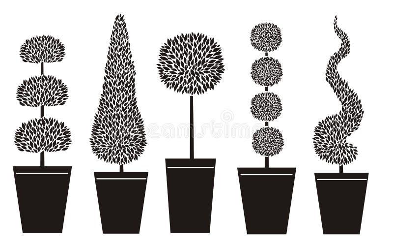 Topiary vormen stock illustratie