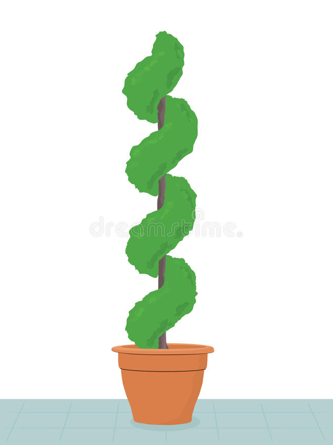 topiarytree royaltyfri illustrationer