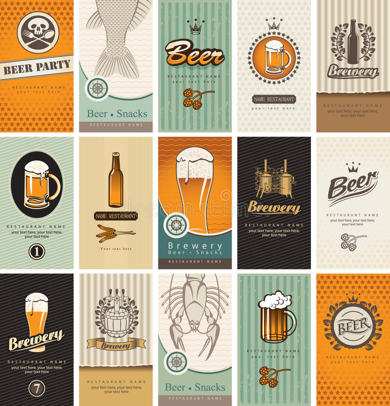 Topic of beer royalty free illustration
