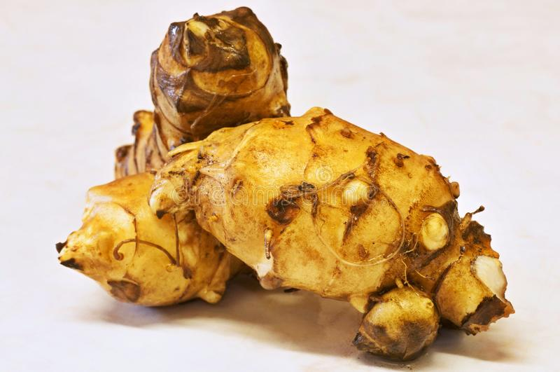 Topinambur (patata ebrea) fotografia stock libera da diritti