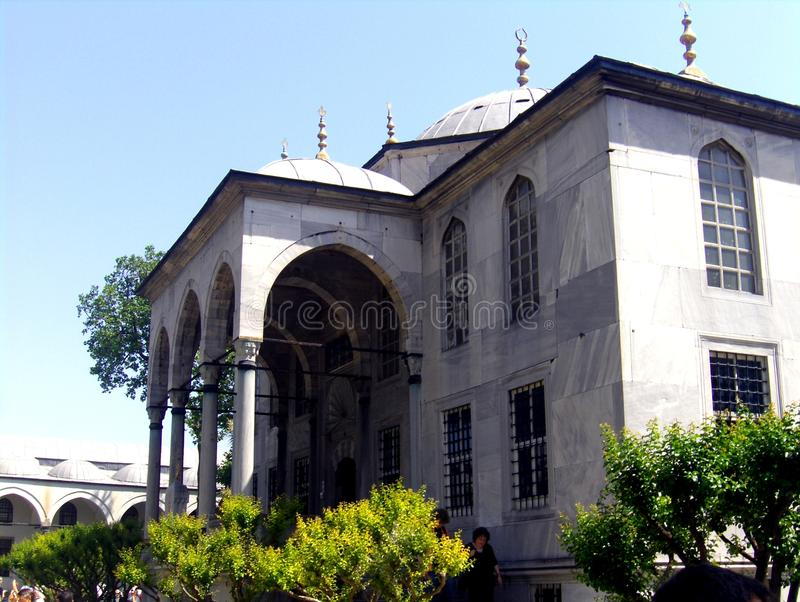 Topkapı Palace. The Topkapı Palace (Turkish: Topkapı Sarayı) is a large palace in Istanbul, Turkey, that was the primary residence of the Ottoman royalty free stock photos