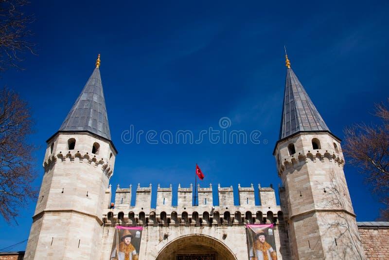 topkapi дворца входа стоковые изображения rf