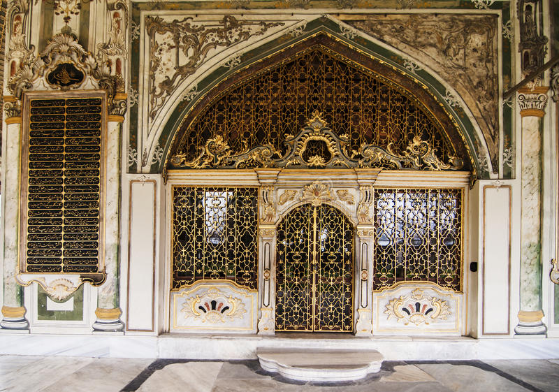 Topkapi. Architectural details inside the Topkapi Palace in Istanbul, Turkey stock photography
