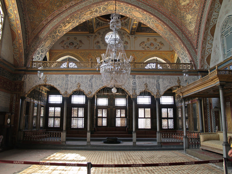 topkapi för haremistanbul slott royaltyfri foto