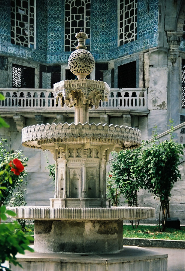 Topkapi palace garden royalty free stock image