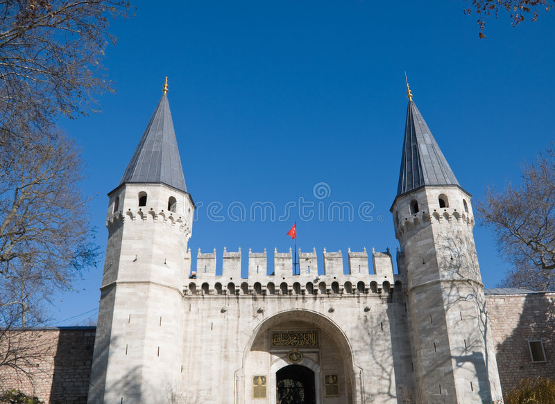Topkapi Palace panoramic view stock photos